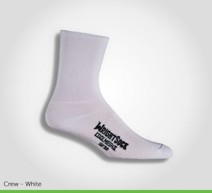 WrightSock Double Layer Coolmesh II Crew Sock - White