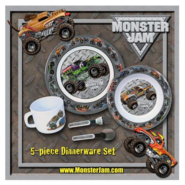 & Monster Jam 5 Piece Dinnerware Set