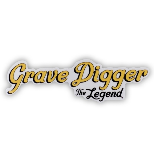 Grave Digger The Legend Logo Sticker