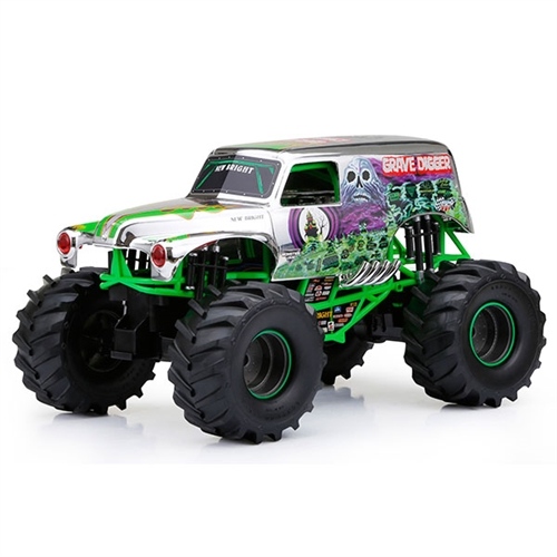 1:10 Scale Grave Digger Chrome R/C Truck