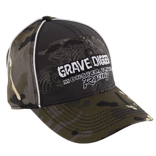 Grave Digger Camo Cap with piping