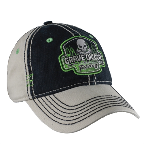 Grave Digger Flame Patch Cap