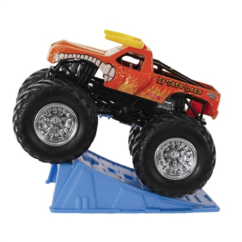 1:64 Hot Wheels El Toro Loco Orange Truck - Stunt Ramp Series