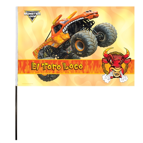 El Toro Loco Orange Flag (14x22 in)