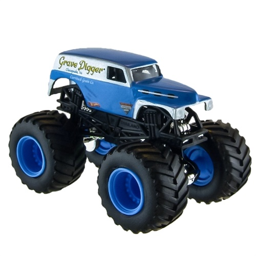 1:64 Hot Wheels Grave Digger Blue Panel Die Cast Truck