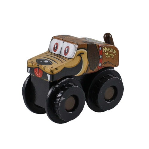 Monster Jam Truckin Pals Monster Mutt Wooden Truck