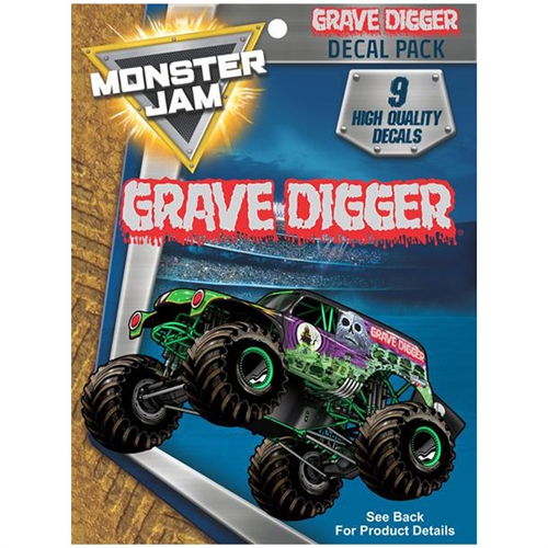 Monster Jam Grave Digger Trucks Decal Pack
