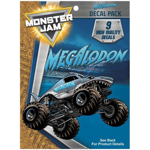 Monster Jam Megalodon Trucks Decal Pack