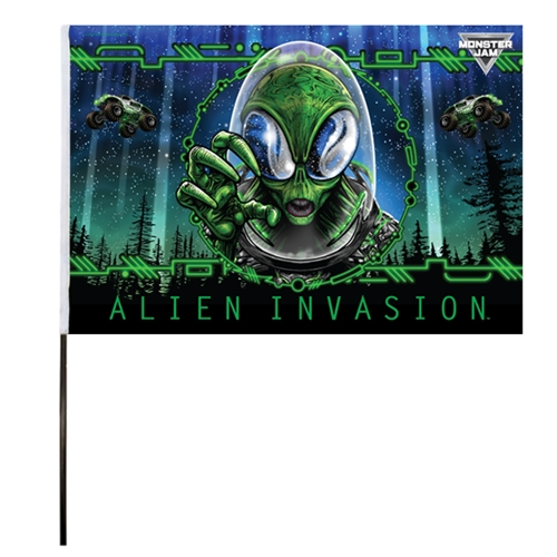 Alien Invasion Flag (14x22 in)
