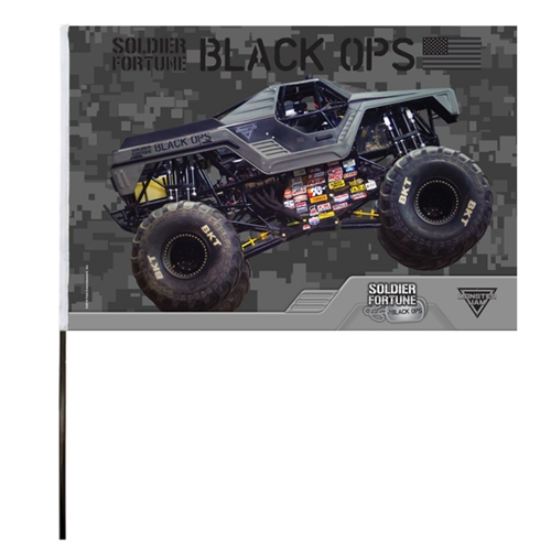 Soldier Fortune Black Ops Flag (14x22 in)