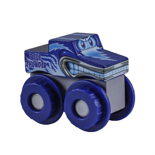 Monster Jam Truckin Pals Blue Thunder Wooden Truck
