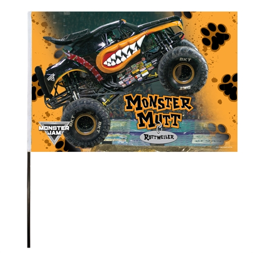 Monster Mutt Rottweiler Flag (14x22 in)