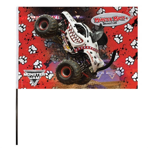 Monster Mutt Dalmatian Flag (14x22 in)