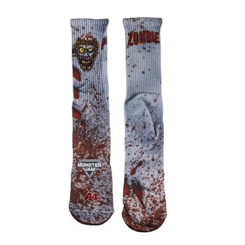 Zombie Face Casual Socks - Youth