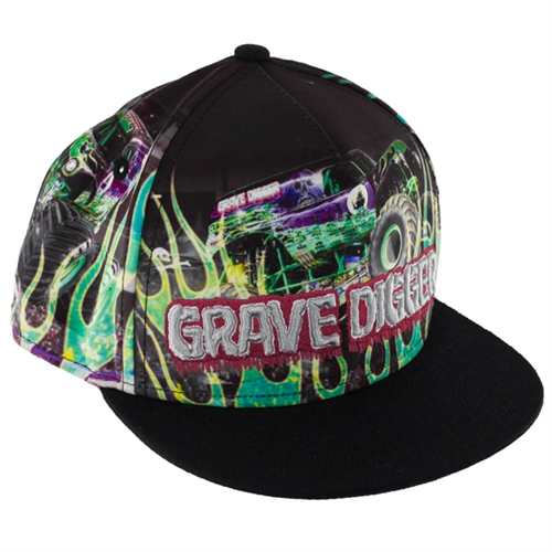 Grave Digger Flames Youth Cap