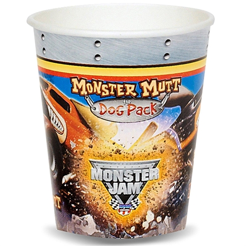 Monster Jam 3D 9 oz. Paper Cups