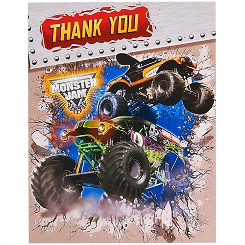 Monster Jam 3D Thank-You Notes