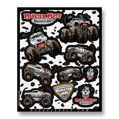 Monster Mutt Dalmatian Decal Sheet