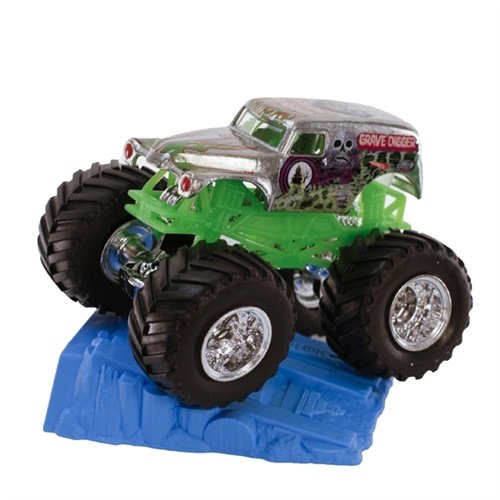 1:64 Hot Wheels Grave Digger Chrome Truck - Stunt Ramp Series