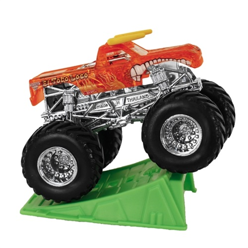 1:64 Hot Wheels X-Ray Body El Toro Loco Orange Truck - Stunt Ramp Series