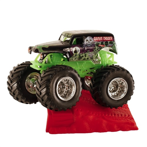1:64 Hot Wheels Grave Digger Truck - Stunt Ramp Series