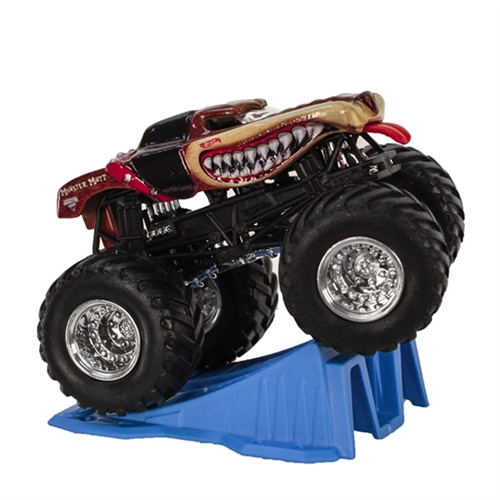 1:64 Hot Wheels Monster Mutt Truck - Stunt Ramp Series