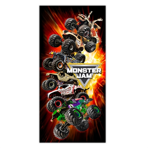 Monster Jam Fire Beach Towel