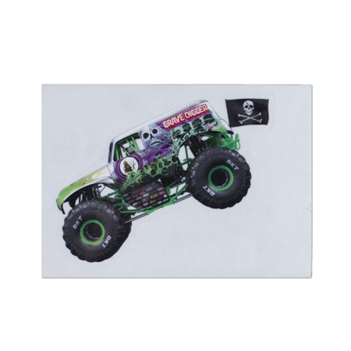 Grave Digger Chrome Sticker
