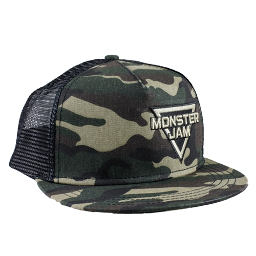 Mesh Back Camo Monster Jam Cap