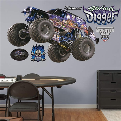 Monster Jam Son-Uva Digger Fathead