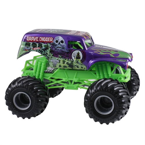1:24 Hot Wheels Grave Digger Purple Truck