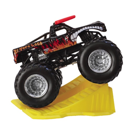 1:64 Hot Wheels El Toro Loco Black Truck - Stunt Ramp Series