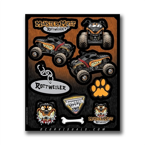 Monster Mutt Rottweiler Decal Sheet