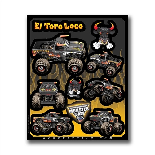 El Toro Loco Black Decal Sheet