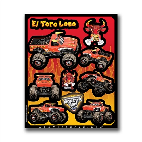El Toro Loco Red Decal Sheet