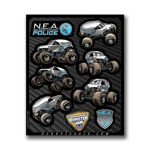 N.E.A. Police Decal Sheet