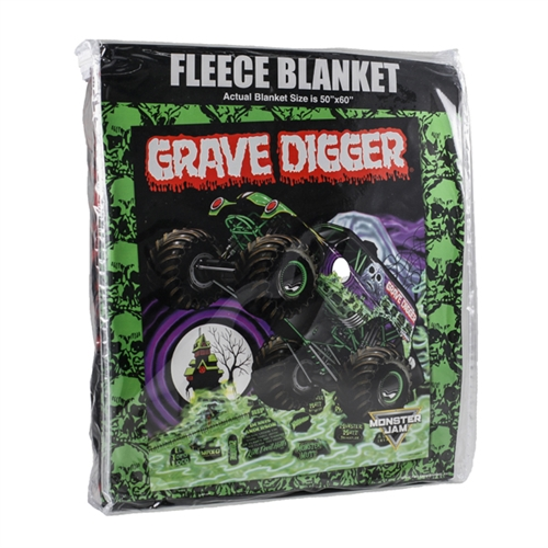 Grave Digger Fleece Blanket