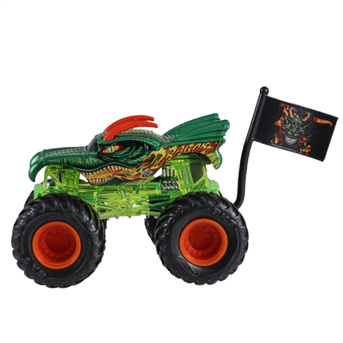 1:64 Hot Wheels Dragon Truck - Flag Series - 1/4 Edge Glow