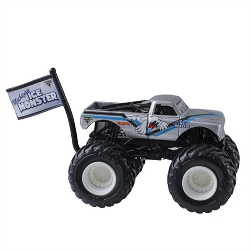 1:64 Hot Wheels Michigan Ice Monster Truck - Flag Series - 3/6 Flashback