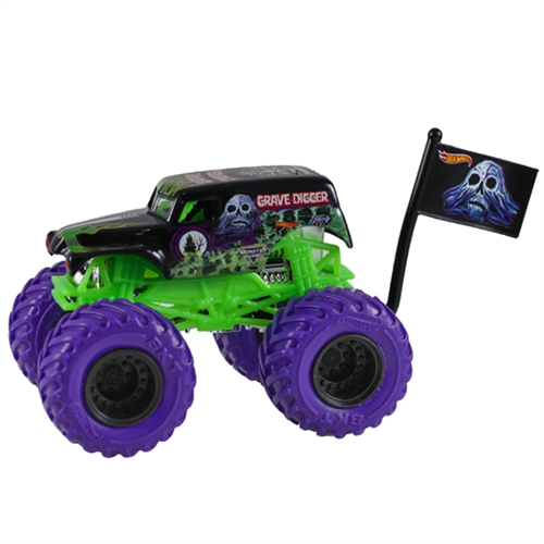 1:64 Hot Wheels Grave Digger Truck - Flag Series - 4/4 Color Treads