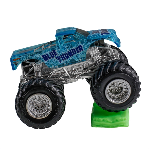1:64 Hot Wheels Blue Thunder Truck - Re-Crushable Car - 1/3 X-Ray Body