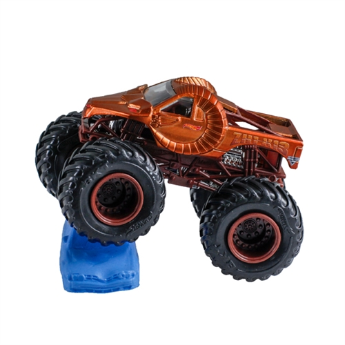 1:64 Hot Wheels Zombie Hunter Truck - Re-Crushable Car 3/4 Chroma Frost