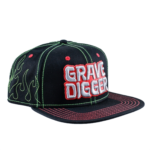 Grave Digger Flame Outline Cap