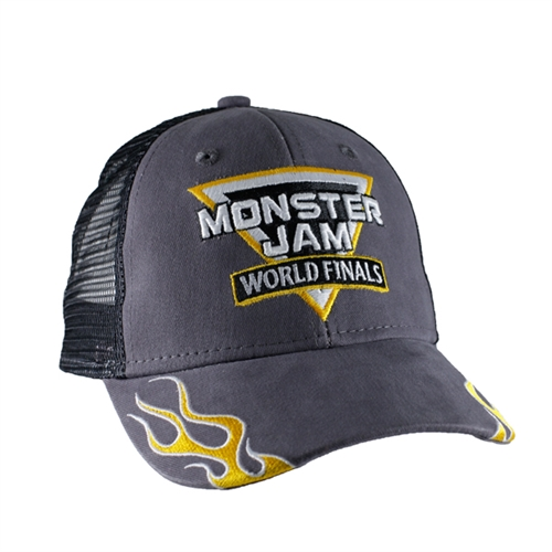 Monster Jam World Finals Flames Youth Cap