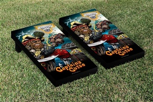 Monster Jam Captains Curse Cornhole Game Set Creature Version