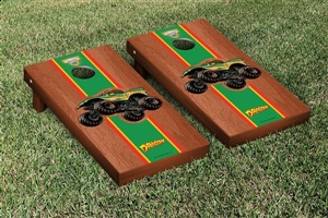 Monster Jam Dragon Cornhole Game Set Rosewood Stained Stripe Version
