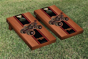 Monster Jam Captains Curse Cornhole Game Set Rosewood Stained Version