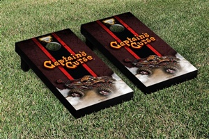 Monster Jam Captains Curse Cornhole Game Set Vintage Version