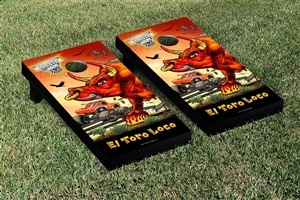Monster Jam El Toro Loco Red Cornhole Game Set Creature Version