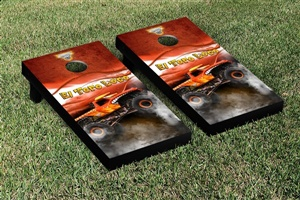 Monster Jam El Toro Loco Red Cornhole Game Set Smoke Version